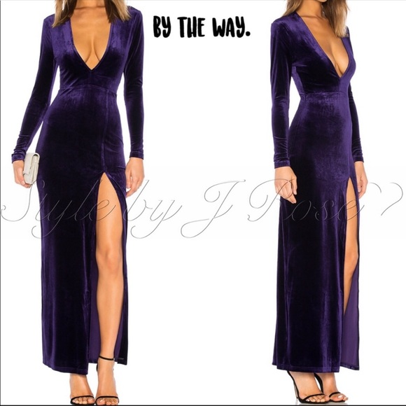 by the way. Dresses & Skirts - by the way. Long Purple Velvet Gown